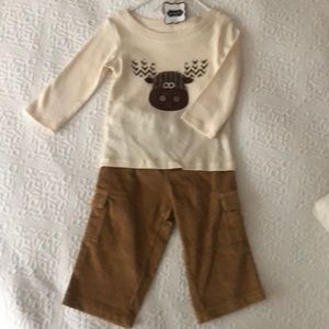 Moose baby boy outfit